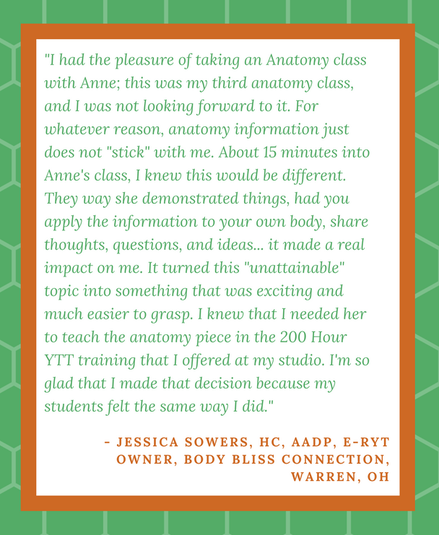 Jessica Sowers testimonial for Anne Ondrey